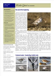 Wader Quest Newsletter - April 2014
