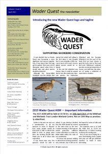 Wader Quest Newsletter - April 2015
