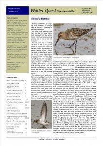 Wader Quest Newsletter - October 2015