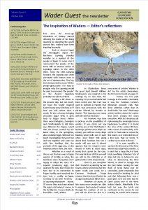 Wader Quest Newsletter - October 2016