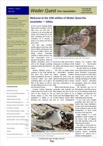 Wader Quest Newsletter - July 2016