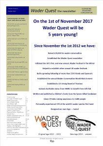 Wader Quest Newsletter - October 2017