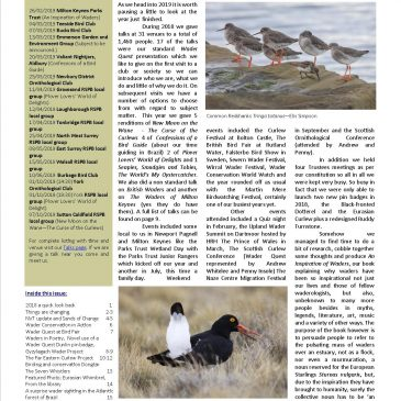 January 20-19 Newsletter available with new Wader Quest Friends and Sponsorship fees.